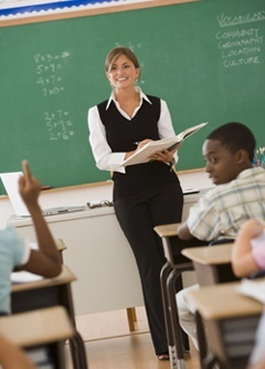 teaching assistant taking attendance
