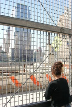 Young woman at Ground Zero
