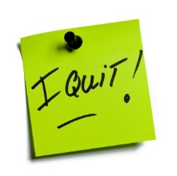 I Quit post-it note