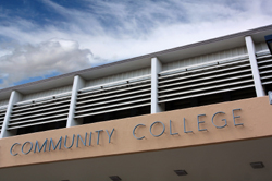 Community college sign