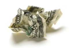 Crumpled money