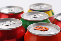 Colorful metal cans