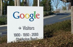 Google campus sign