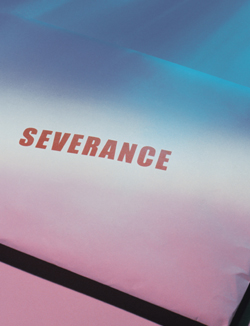Close up of envelope with the word 'severance' stamped on it