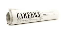 Careers section of newspaper
