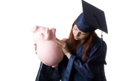 Grad trying to get money out of piggy bank
