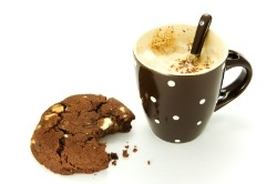 Chocolate cookie and coffee