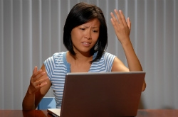 Frustrated student filling out FAFSA online