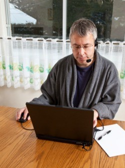 Man working from home