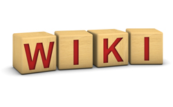 Wood blocks with the word 'WIKI'