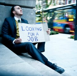 Man looking for employment