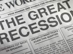 Great Recession Newspaper Headine
