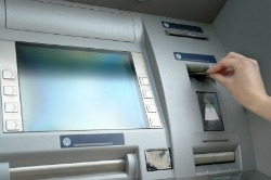 Withdrawing money at ATM