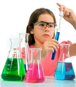 Young Girl Science