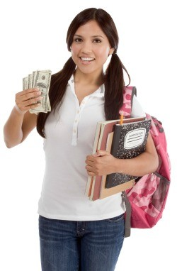 College Student with Money